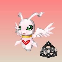 Digimon MarineAngemon Papercraft 2 by HellswordPapercraft