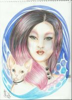 lady cat pink by keper7
