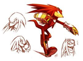 Knuckles doodles by EVMousser