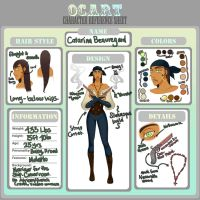 Ref Sheet -Catarina Beauregard by MsRaggaMuffin