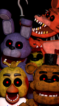 FNaF 1 Mobile Wallpaper by PuppetProductions