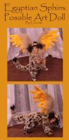 Egyptian Sphinx Posable Art Doll by Eviecats