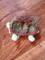 Turtle Preemie Crochet Hat by CardinalCrocheting