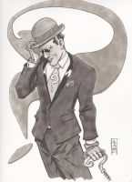 WWC Riddler Sketch Gray by Dave-Acosta