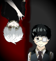 Kaneki Ken: The Two Sides of Me by PewPewImaNinja