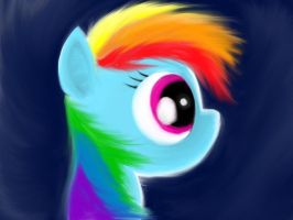 Rainbow Dash Painting by TheBusinessPony