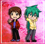 Day 25 .: Yuuya and Zeo :. by darkangel-hikari