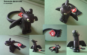 ~Cute Toothless Figurine by UnicornCat