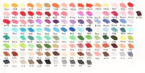 My copic color chart by Acoony