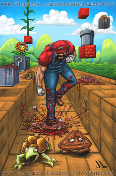 Super Killer Mario by JeremiahLambertArt