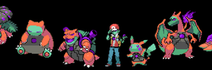 infected red and team by unknownspriter
