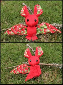FOR SALE: Strawberry Fruit Bat by A-chan--Creations