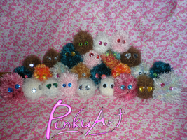 pin cushion monster invasion by PinkuArt