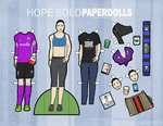 Hope Solo Paper Dolls 2014 by hercircumstance