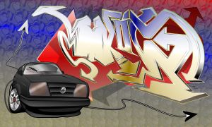 Graff Toon Insanity_Vector by Catalyst1