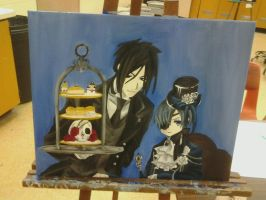 Black Butler oil painting by simpson94