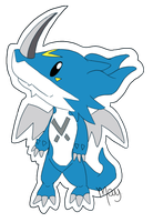 Chibi ExVeemon by vanilla-dog