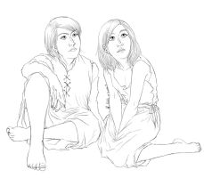 Line Art - Dhonia and Brunar Little by Madda-Sketches