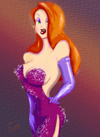 Jessica Rabbit Doodle by theblindalley