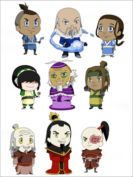 Chibi avatar characters by MRSpainter