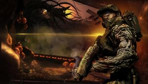 Master Chief Flood and Gravemind by bulletreaper117