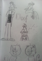 Vacation Doodles 4 - some Doof's and two Leibis~ by Leibi97