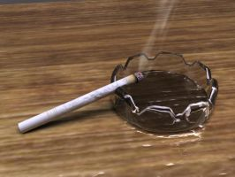 cig and ashtray by musth