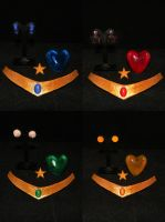 Sailor Moon Inner Senshi accessory set - Super ver by starlit-creations