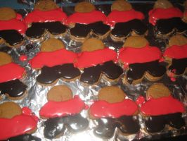 Red Shirt Gingerbread Cookies by WillowForrestall