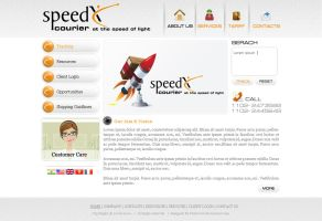 Speed Courier by: preet618 by WebMagic