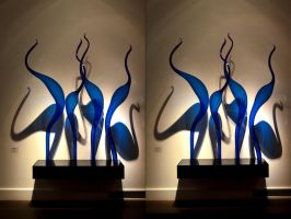 Chihuli's Halcyon Blue Birds Of Harpiness? by aegiandyad