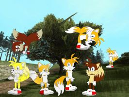 Tails collage by YRT9401