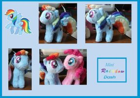 Mini Rainbow Dash Plush by Starimo