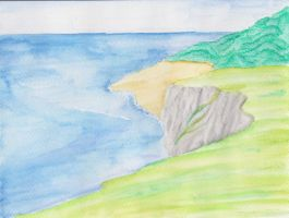 Cliffs of Aquarelle by saphiraly