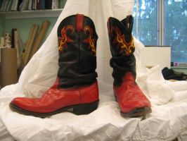 Fire Boots by bloomsinthenight
