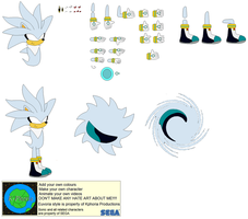 Character Builder-Silver The Hedgehog by Kphoria