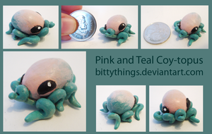 Pink and Teal Coy-topus by Bittythings