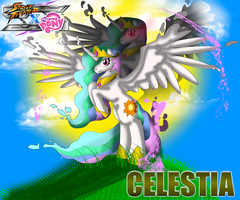 SFxMLP Celestia wallpaper by CrossoverGamer
