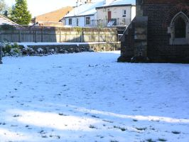 snow, churchyard  oct 29th 26 by dark-dragon-stock
