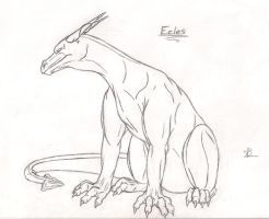 Wingless Dragon Ecles by Dragon-Art14