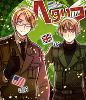 Hetalia Cover: US + UK by ROSEL-D
