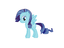 Snowbell ( a pony for my friend) by starlightzs