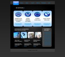Business web template by Player-Designer