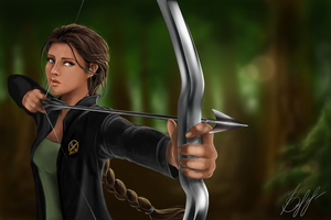 Katniss Everdeen by lerielos
