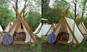 medieval tents by two-ladies-stocks