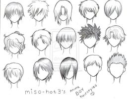 anime hair (boys) guidelines by yosopher