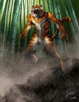 tiger warrior by URIELHIDALGO