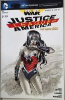 Wonder Woman sketch cover by CassandraJames