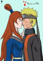 Naruto and Mei by AlphaDelta1001