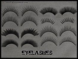 Eyelashes by ro-stock by Project-GimpBC